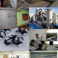 循環式エコクリーンブラスト工法  施工現場見学会を開催しました